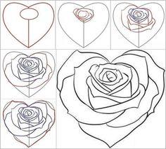 Hoe schets je een mooie roos