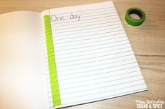 A super easy, visual aide to help young writers start their writing on the left side of the paper! - by Miss DeCarbo