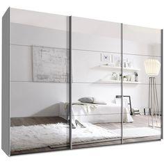 Schwebetürenschrank spiegelfront  Maße: Breite: 136 cm Höhe: 197 cm Tiefe: 61 cm Inneneinteilung ...