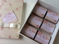 BOW BOX: Caixa com brownies para as madrinhas...