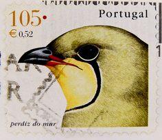 beautiful stamp Portugal 52c € 0.52 105 esc postzegel bird timbre percheur pájaro selo perdiz do mar francobollo Portugal sello niǎo yóupiào 邮票 鸟 марка Португалия птица by stampolina, via Flickr