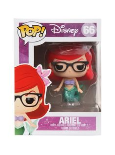 Disney Funko Pop! The Little Mermaid EXCLUSIVE Nerd Ariel Vinyl Figure RARE ~ Series 66 http://popvinyl.net #funko #funkopop #popvinyl
