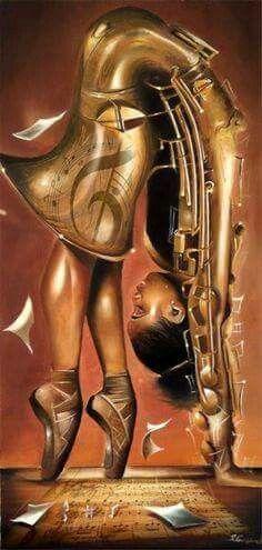 Salaam Muhammad - The Balletic Tune : Black art prints & African American Art & Gifts Black Love Art, Black Girl Art, Art Girl, Dope Kunst, Black Art Pictures, Art Africain, Black Artwork, Black Art Painting, Body Painting