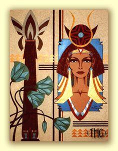 Egyptian Art Deco Painting. Tara Hutton