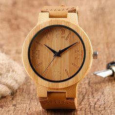Men's Wooden Watch : Bamboo / Analogue / You Wood Like