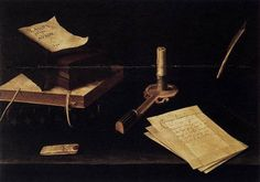 Still Life with Candle by Lubin Baugin, 1630
