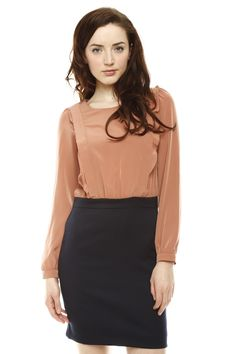 Frill Long Sleeve Dress » Great work outfit!