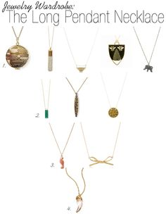 Jewelry Wardrobe: The Long Pendant Necklace featuring the Gold Dipped Bar Necklace! www.corrinrenee.com