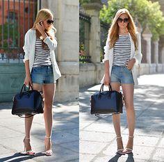 Zara Blazer, Zara Shoes - STRIPED SAT - Henar Vicente