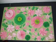 Gekleurd papier.Gemaakt door Gerrie van Leeuwen.