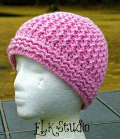 Just Groovin' Crochet Beanie - Pretty In Pink Free Crochet Patterns - The Lavender Chair