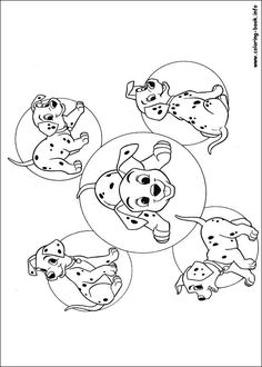 101 Dalmatians coloring picture