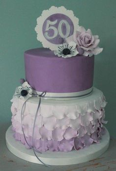 50th birthday cake - Cake by Sweet As Sugar
