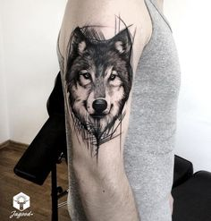 55 Best Arm Tattoo Ideas for Men - Side Arm Wolf Tattoos - Wolf Tattoos Men, Tattoos Arm Mann, Arm Tattoos For Guys, Trendy Tattoos, Popular Tattoos, Animal Tattoos, Body Art Tattoos, Cool Tattoos, Wolf Tattoo Design