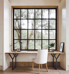 Trendy Home Office Window Desk Nooks Ideas Office Nook, Home Office Space, Home Office Design, Home Office Decor, House Design, Small Office, White Office, Office Designs, Desk Office