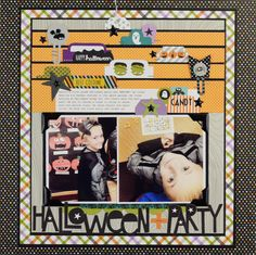 Bella Blvd Spooktacular Collection. Halloween Party layout by Becki Adams.