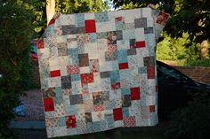 double-slice quilt (uses a missouri quilt co. tutorial). Super quick layer cake pattern.
