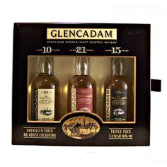 Glencadam Miniature Whisky Gift Set with 3 different single malt whiskies available to buy online at whiskys.co.uk Stamford Bridge York
