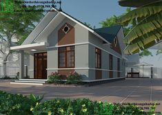 Biệt thự nhà vườn 1 tầng mái thái NDBT1T30