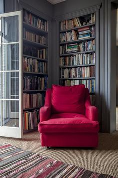 The reading armchair at Wisteria House