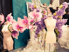 """2012 backstage, jaw dropping """"wings"""" from the """"In Bloom"""" fashion show segment"""