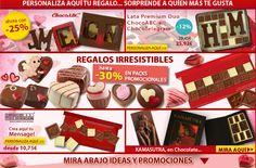 ¿Aún no se conocen las ofertas de este mes? Ven ya que mira a escondidas Chocolate, Bonbon, Candy, Gifts, Messages, Tin Cans, Presents, Chocolates, Brown