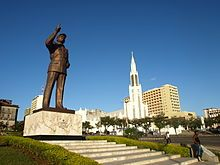 The Mansudae Overseas Project - Mozambique - Maputo-Machel-Cathedral, Independence Square, Maputo, constructed in Fritz Joubert Maputo, Destinations, Continents, Statue Of Liberty, Cathedral, Beautiful Places, City, World, Photography