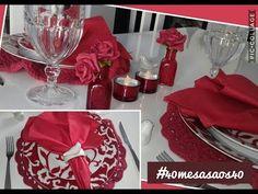 Inspiração de mesa com vermelho e crochê #mesaposta #diadasmaes #40mesasaos40 - YouTube