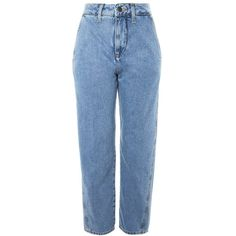 Women's Topshop Boutique Displaced Boyfriend Jeans (360 PEN) ❤ liked on Polyvore featuring jeans, blue, high-waisted boyfriend jeans, highwaist jeans, blue high waisted jeans, blue jeans and topshop boyfriend jeans