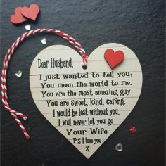 Personalised Anniversary Birthday Valentines Day Gift For Him Husband Wooden Hanging Love heart Pla – Valentines Day İdeas 2020 Valentines Day Gifts For Him Husband, Valentines Day Quotes For Him, Birthday Gift For Him, Anniversary Gifts For Him, Valentine Day Crafts, Birthday Ideas For Husband, Kids Valentines, Husband Gifts, Anniversary Ideas