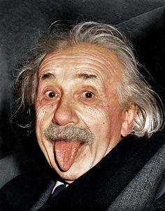 Albert Einstein - black and white photographs colorized by Mads Madsen