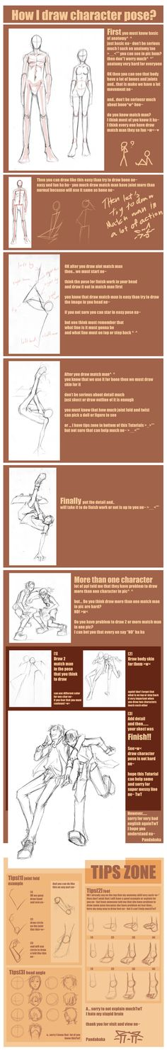 How to Draw the Human Body - Tutorial: Character Poses for Comic / Manga Character Reference