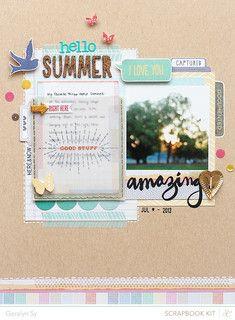 Hello Summer by qingmei at @Studio_Calico