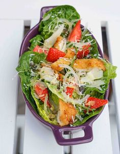 stuttgartcooking: Backhendl-Salat mit Fenchel und  Erdbeeren