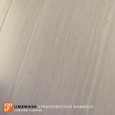 Limewash bamboo flooring