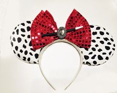 Check out Cruella De Vil Inspired Mickey Mouse Ears from Disney's 101 Dalmations on extramagichours