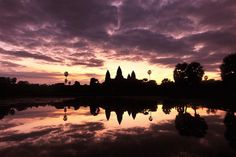 It was taken this morning dated Oct mid moon festival. Thanks God the typhoon has past away and gave us a wonderful blue sky. Angkor Wat, Beautiful World, Cambodia, Great Places, Past, Sunrise, Scenery, Places To Visit, Silhouette