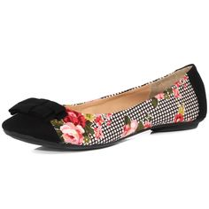 Black and Floral pumps