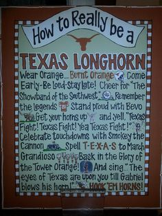 My wonderful SIL has all this figured out now!How to Really be a Texas Longhorn