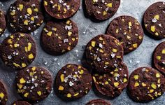 Chocolate-Pistachio Sablés - Bon Appétit 25 Days of Cookies 2013