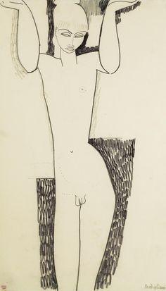 """untitled-1991:  modigliani """"cariatide hermaphrodite"""" 1911"""