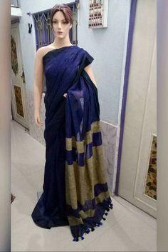 Pure Lenin sarees PRICE:2550+ shipping Order what'sapp 919573737490 Phulkari Saree, Kasavu Saree, Silk Sarees, Saris, Bandhini Saree, Velvet Saree, Stylish Sarees, Elegant Saree, Linen Blouse
