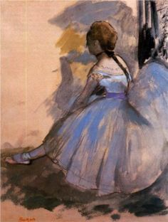 Dancer Seated (study) - Edgar Degas                                                                                                                                                      Mais