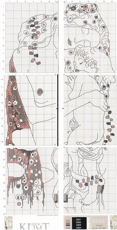 0 point de croix mere et enfant par klimt - cross stitch mother and child by klimt