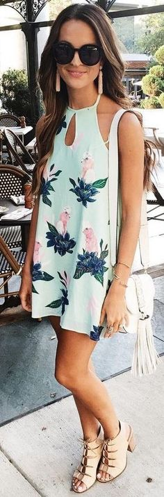 #summer #american #style | Little Floral Dress