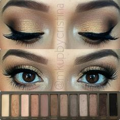 Urban Decay Naked 2 Palette Dramatic eye look with tutorial