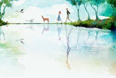 Kai Fine Art is an art website, shows painting and illustration works all over the world. My Daddy Long Legs, Kunst Online, Museum, Anne Of Green Gables, Cute Illustration, Painting Inspiration, Home Art, Character Design, Fan Art