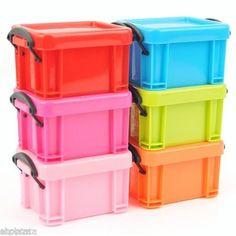 Plastic Desktop Buckle-up Mini Storage Box Container Organizer - 2.3$