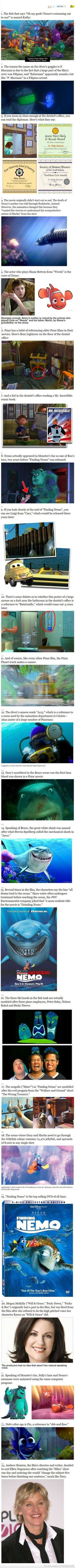 Interesting Facts About Finding Nemo... Can't wait for the sequel Findng Dory 2015