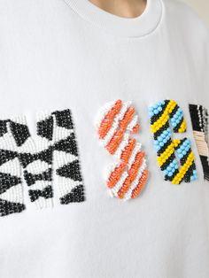 Msgm Beaded Logo Print T-shirt - Biffi - Farfetch.com